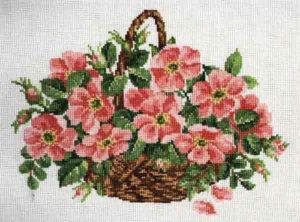 arreglos de flores bordados