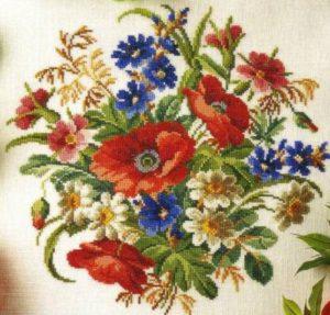 bordados de flores punta