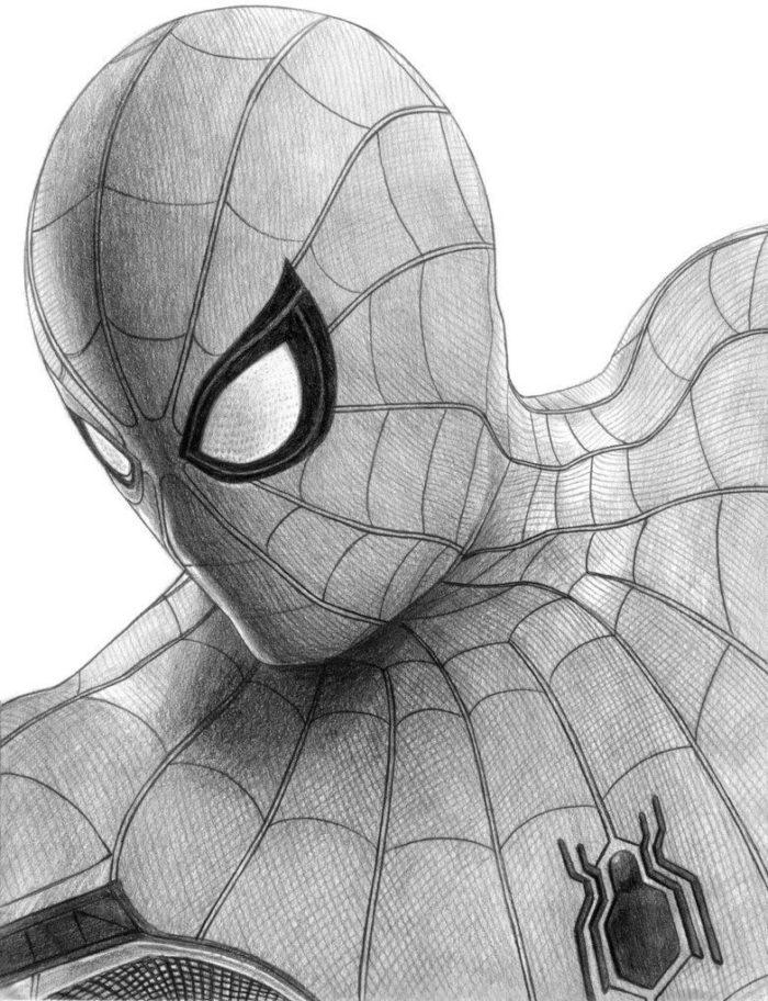 dibujos de spiderman para dibujar