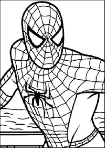 hombre araña para imprimir