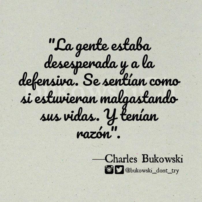 Charles bukowski frases