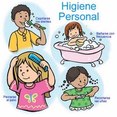Imágenes de Higiene Personal para niño