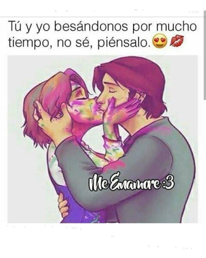 tu y yo besándonos