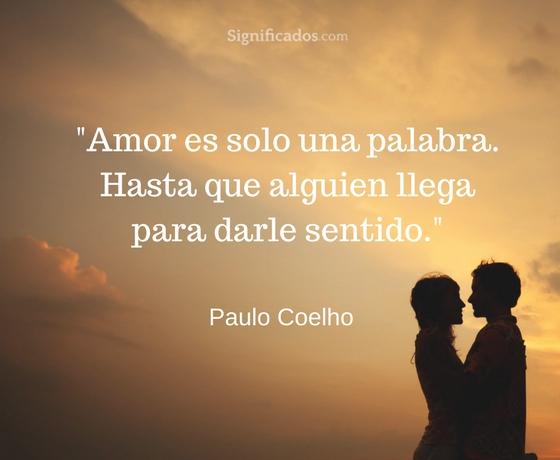 amor es una sola palabra