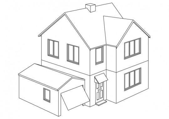 casas dibujos
