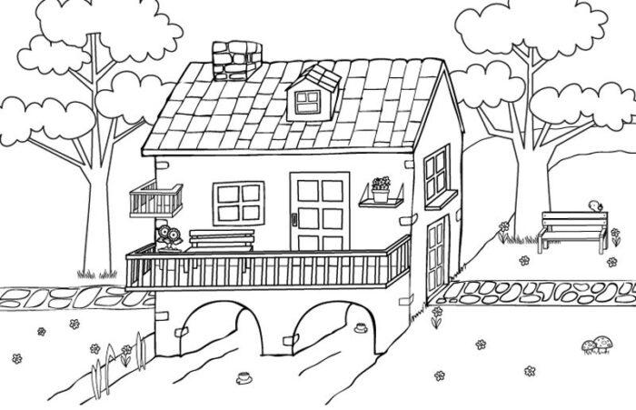 casas para dibujar